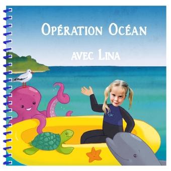 Livre personnalisé pour enfant avec photos sur l'océan