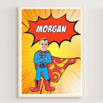 Cadeau personnalisée super-héros avec photo