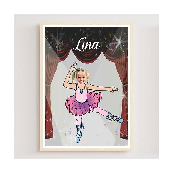 Cadeau personnalisée danseuse avec photo