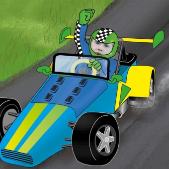 Livre personnalisé enfant avec photo : pilote de course